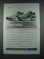 2004 Finish Line Nike Air Maddie Max Shoes Ad - Run Wild