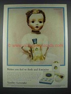 1958 Yardley Lavender Ad - Madame Alexander Doll