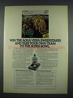 1972 Aqua Velva After Shave Ad - Take to Super Bowl