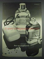 1975 Givenchy Gentleman After Shave Lotion, Savon Ad