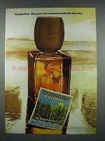 1975 English Leather Timberline Cologne Ad