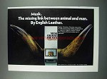 1975 English Leather Musk Cologne Ad - The Missing Link