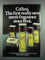 1980 Faberge Cellini Cologne Ad - First New Fragrance