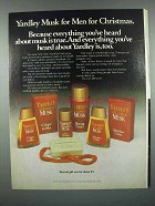 1981 Yardley Musk Cologne, Aftershave Lotion Ad