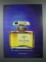 1984 Jean Patou Joy Perfume Ad - The Costliest