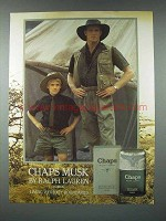 1986 Ralph Lauren Chaps Musk Cologne Ad