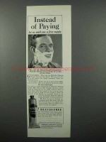 1931 Palmolive Shaving Cream Ad - Instead of Paying