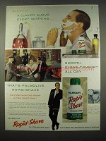 1959 Palmolive Rapid-Shave Shaving Cream Ad