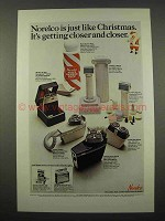 1967 Norelco Electric Shaver Ad - Just Like Christmas