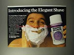 1973 Palmolive Rapid-Shave Shaving Cream Ad - The Elegant Shave