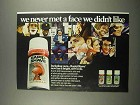 1973 Palmolive Rapid-Shave Shaving Cream Ad