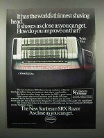 1980 Sunbeam SRX Razor Ad - Thinnest Shaving Head