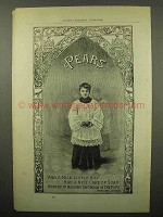 1894 Pears Soap Ad - Worthy of Washing Hands of Pope
