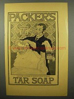 1897 Packer's Tar Soap Ad - A Pleased Customer