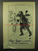 1902 Pears' Soap Ad - Whilst There's Life There's Soap