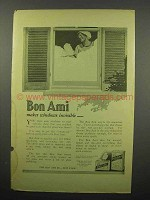 1914 Bon Ami Soap Ad - Makes Windows Invisible