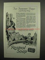 1923 Resinol Soap Ad - For Summer Days