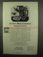 1923 Packer's Soap Ad - New Metal Container
