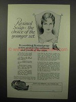 1927 Resinol Soap Ad - Choice of the Younger Set
