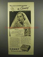 1937 Camay Soap Ad - I'm Most Certainly Grateful