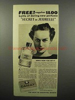 1937 Camay Soap Ad - Secret de Jeurelle Perfume