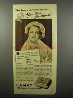 1938 Camay Soap Ad - Your Own Loveliness