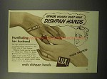 1938 Lux Detergent Ad - Women Don't Have Dishpan Hands