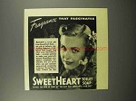 1940 SweetHeart Soap Ad - Fragrance That Fascinates