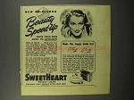 1944 SweetHeart Soap Ad - 40-Second Beauty Speed-up
