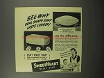 1944 SweetHeart Soap Ad - Oval Shape Lasts Longer