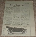 1913 Reo the Fifth Car Ad, Each a Lucky Car!!