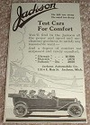 1913 Jackson Car Ad, Test Cars for Comfort!!!