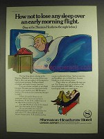 1977 Sheraton Heathrow Hotel Ad - Not To Lose Sleep