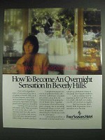 1989 Four Seasons Hotel Ad - Sensation in Beverly Hills