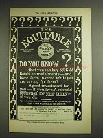 1904 The Equitable Life Assurance Ad - Do You Know?