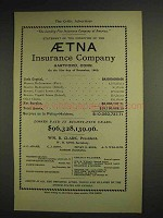 1904 Aetna Insurance Ad - Leading Fire Insurance