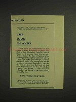 1904 New York Central Railroad Ad - The 1000 Islands