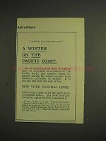 1904 New York Central Railroad Ad - Winter on Pacific
