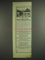 1914 Great Northern Railway Ad - Glacier National Park