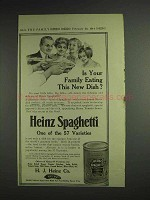 1914 Heinz Spaghetti Ad - Is Your Family Eating?