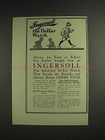 1914 Ingersoll Dollar Watch Ad - On Time at School