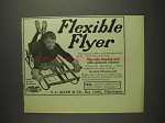1914 Flexible Flyer Sled Ad - Steering with Grooved