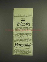 1914 Pettijohn's Cereal Ad - New Way to Keep Well