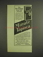 1914 Minute Tapioca Ad - Package For Your Protection