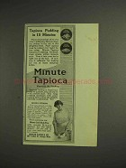 1914 Minute Tapioca Ad - Pudding in 15 Minutes