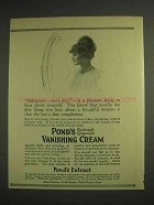 1914 Pond's Vanishing Cream Ad - Attractive Isn't She?