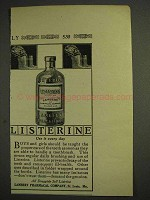 1914 Lambert Listerine Antiseptic Mouth-Wash Ad - Every Day