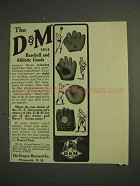 1914 Draper-Maynard D&M Baseball, Athletic Goods Ad