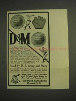 1914 Draper-Maynard D&M Baseball Goods Ad - Navy, Army