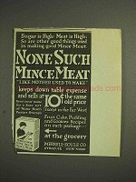 1914 Merrell-Soule None Such Mince Meat Ad - Sugar is High